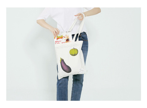 Draw Draw Canvas Bag _ Eggplant&Pumpkin/ 어글리더클리 (Ugly Duckly)